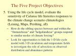 the five project objectives4