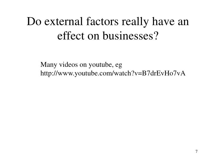 Do external factors really have an effect on businesses?