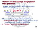 yahoo ova taksonomija znanja sustav meta podataka