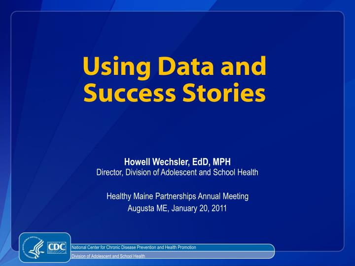 using data and success stories n.