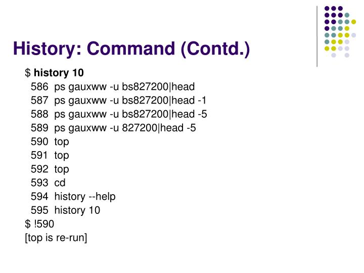History: Command (Contd.)
