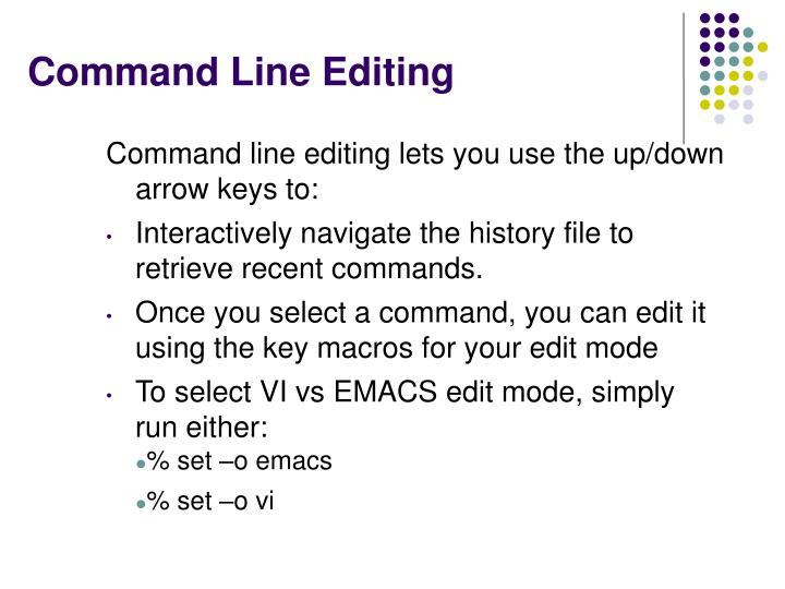 Command Line Editing