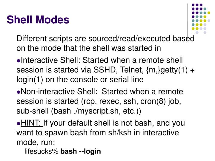 Shell Modes