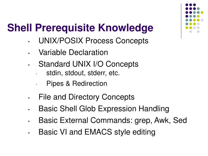 Shell Prerequisite Knowledge