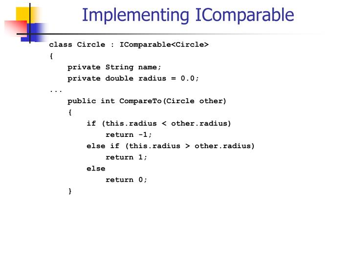 Implementing IComparable