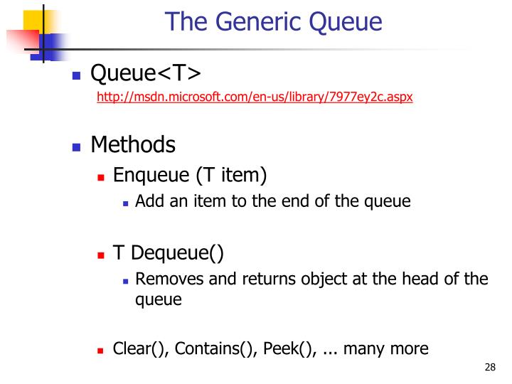 The Generic Queue