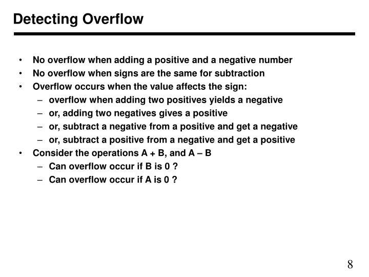 Detecting Overflow