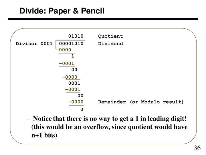 Divide: Paper & Pencil