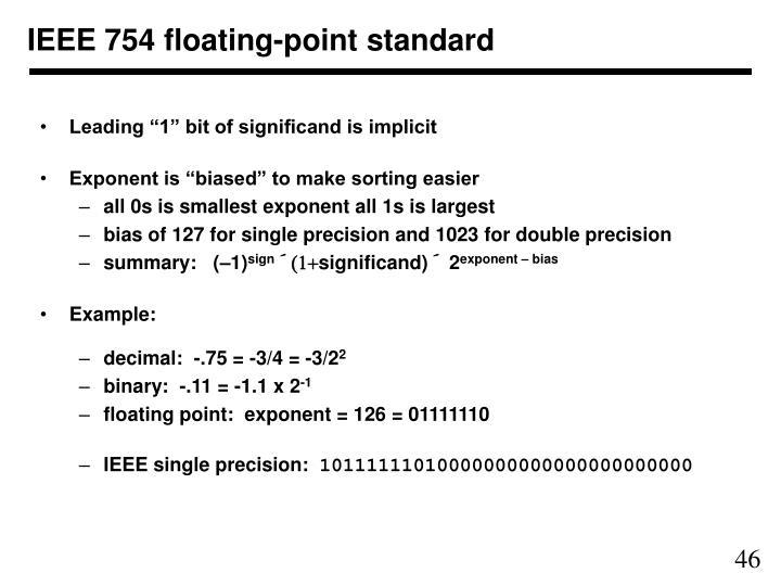 IEEE 754 floating-point standard