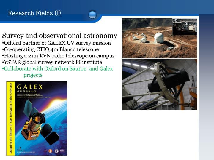 Research Fields (I)