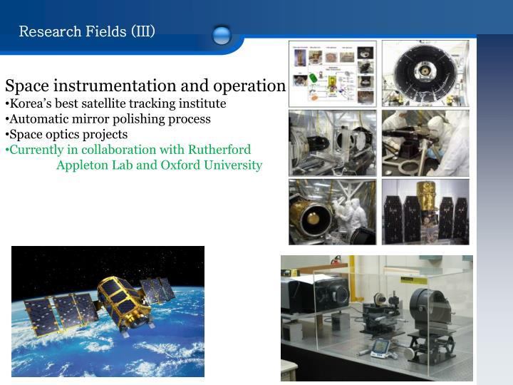 Research Fields (III)
