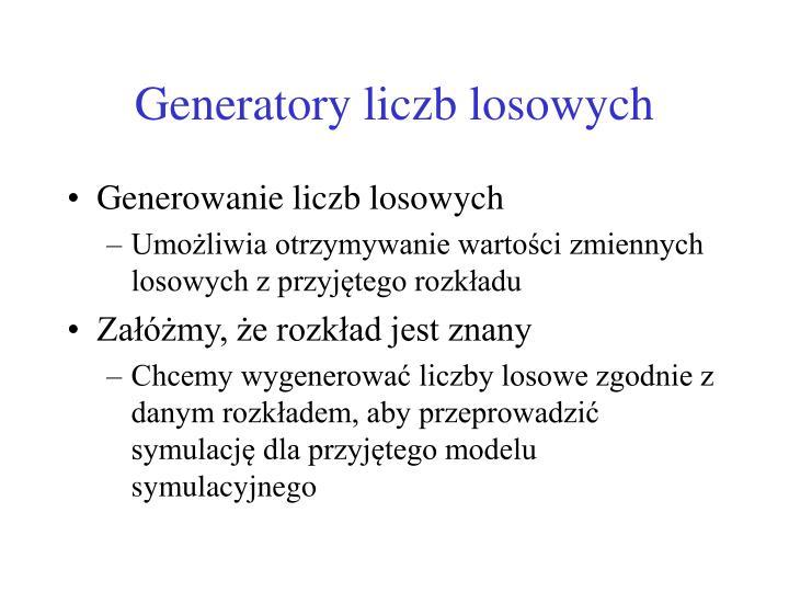 Generatory liczb losowych
