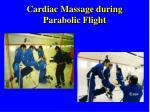 cardiac massage during parabolic flight1