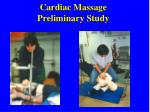 cardiac massage preliminary study