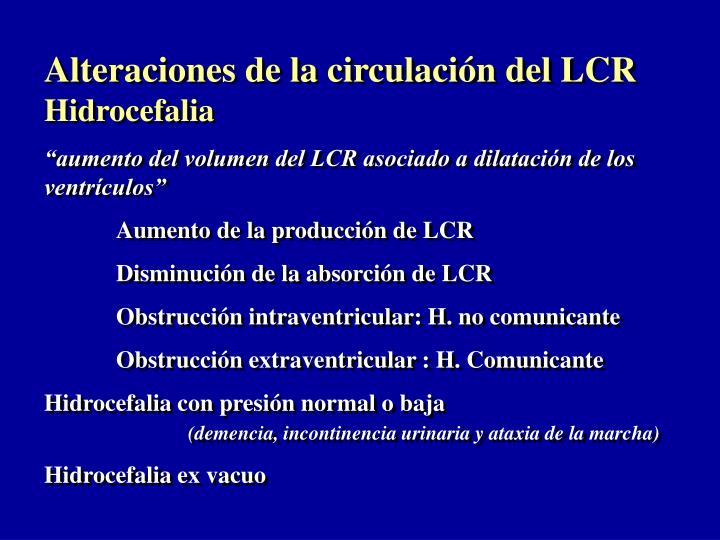 Alteraciones de la circulación del LCR