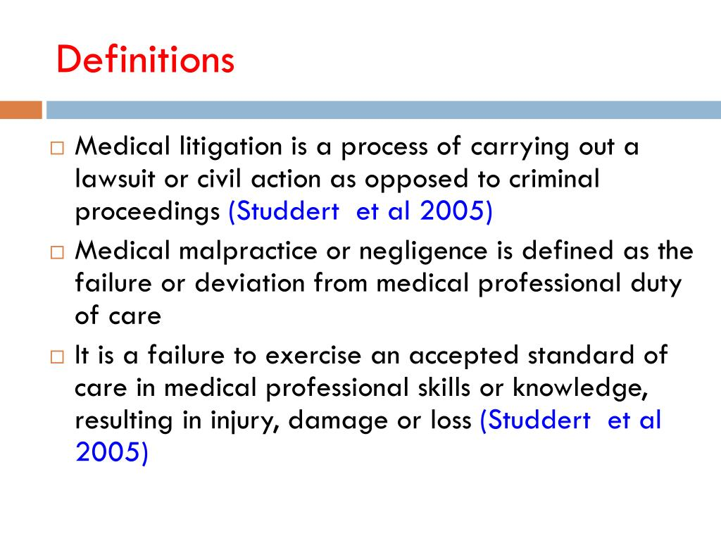 PPT - MEDICAL LITIGATION IN OBSTETRICS & GYNAECOLOGY PRACTICE