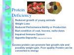 protein deficiency