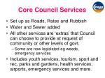 core council services