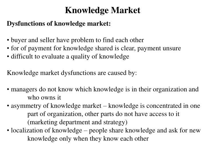Knowledge Market