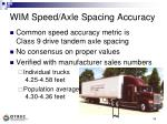wim speed axle spacing accuracy