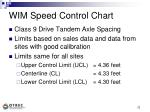 wim speed control chart