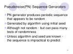 pseudonoise pn sequence genarators