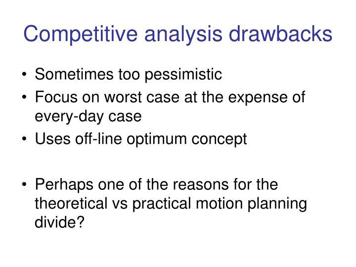 Competitive analysis drawbacks