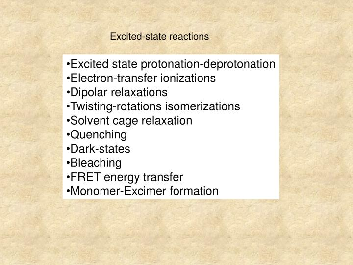Excited-state reactions