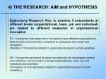 4 the research aim and hypothesis