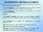 the research method and sample