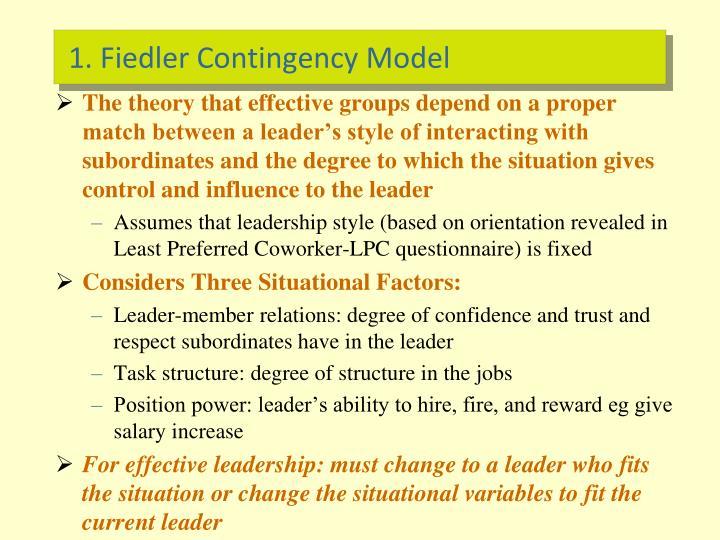 1. Fiedler Contingency Model