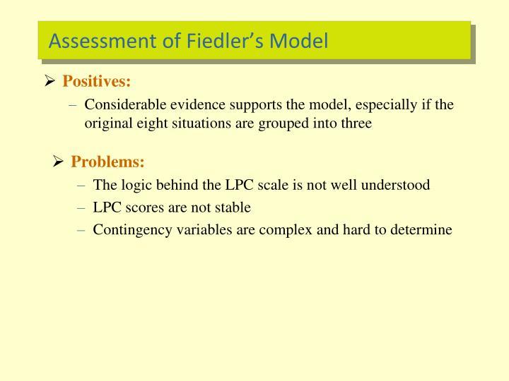 Assessment of Fiedler's Model