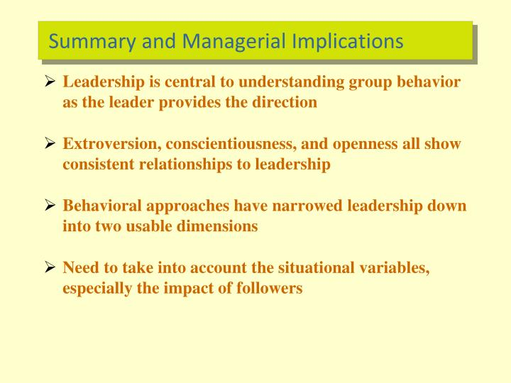 Summary and Managerial Implications