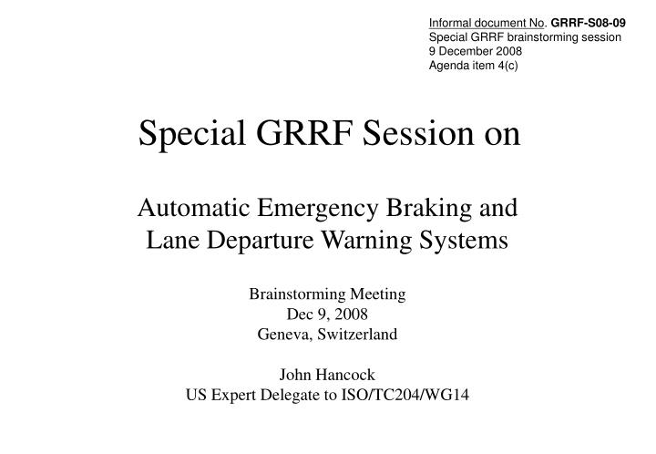special grrf session on n.