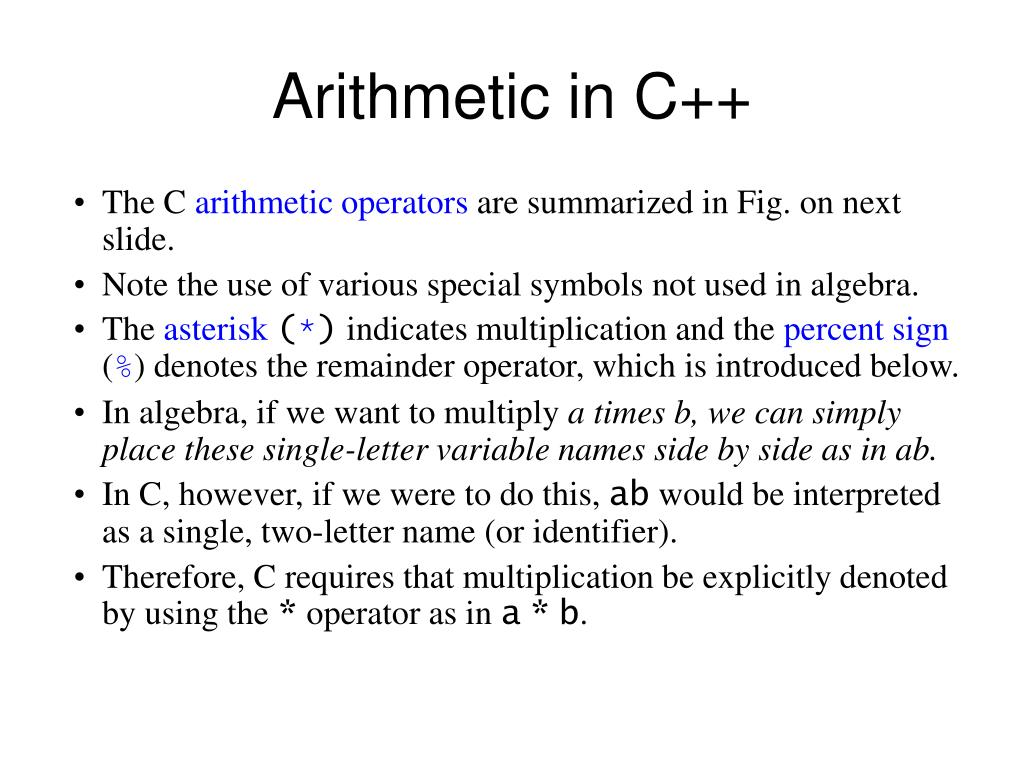 PPT - Operators in C++ PowerPoint Presentation - ID:5745021