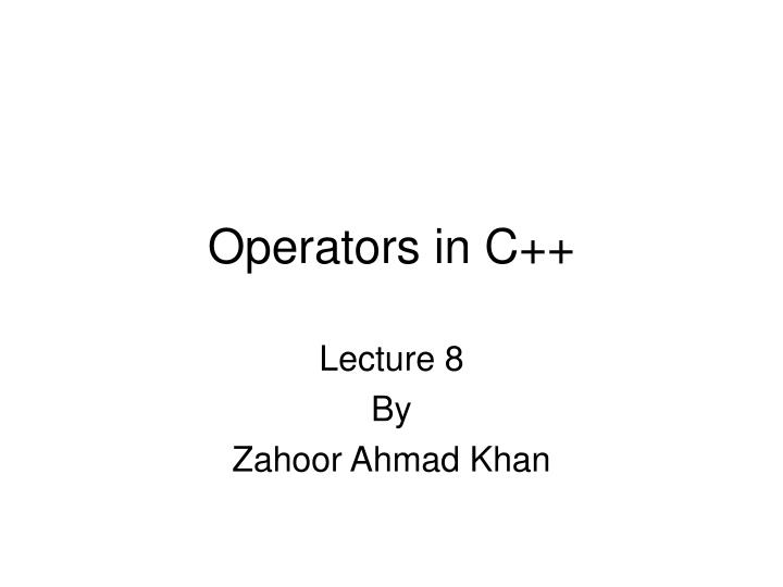 lecture 8 by zahoor ahmad khan n.