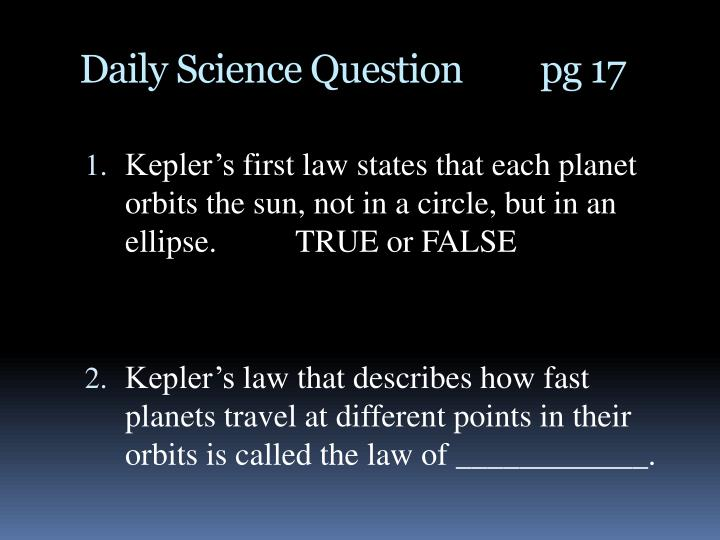 Daily Science Question