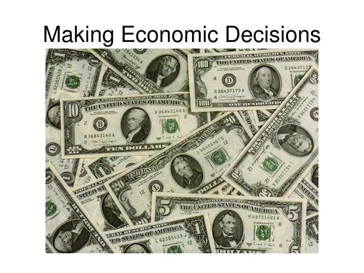how to make economic decisions 1 probability models for economic decisions by roger b myerson preface this book is an introduction to the use of.