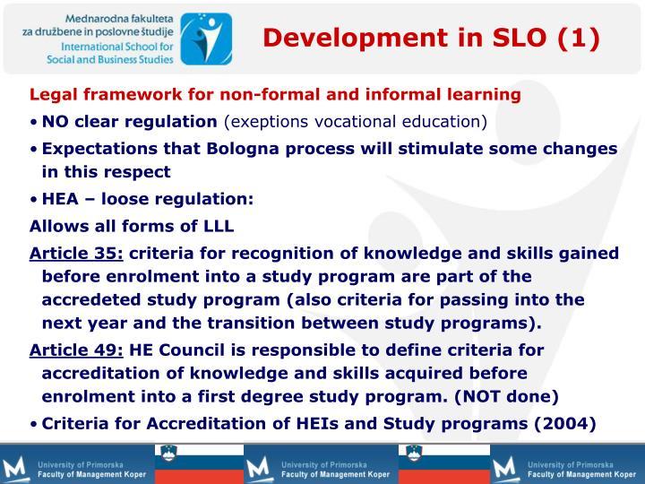 Development in SLO