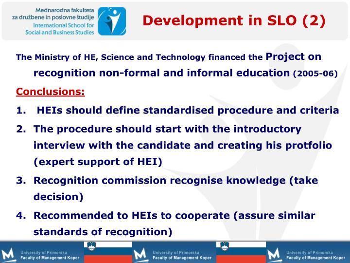 Development in SLO (2)