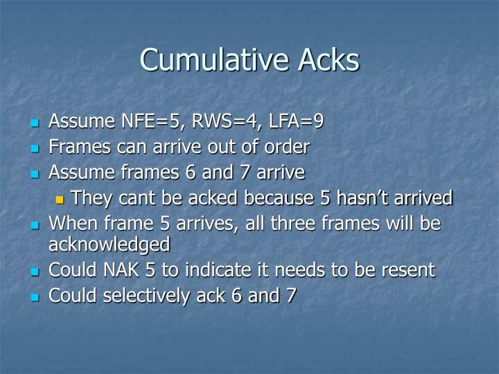 Cumulative Acks