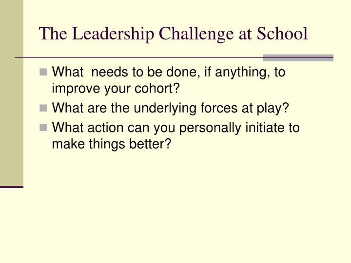 The Leadership Challenge at School