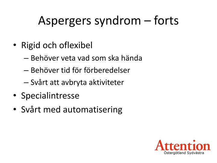 Aspergers syndrom forts