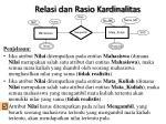 relasi dan rasio kardinalitas1