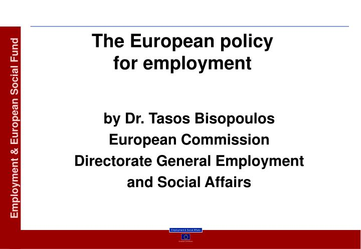 the european policy for employment n.