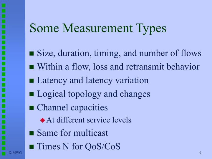 Some Measurement Types