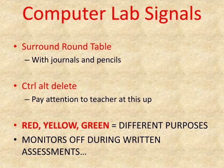 Computer Lab Signals