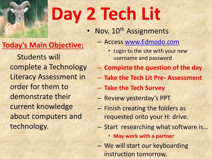 Day 2 Tech Lit