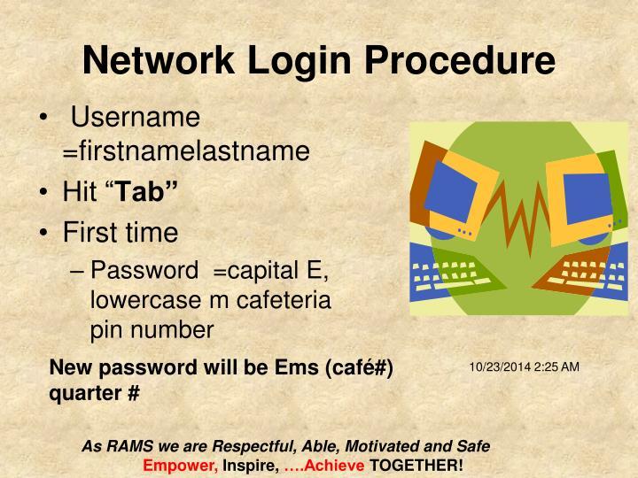 Network Login Procedure
