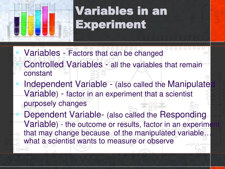 Variables in an Experiment
